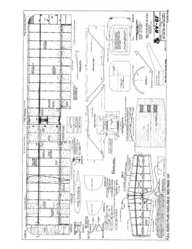RV2 model airplane plan