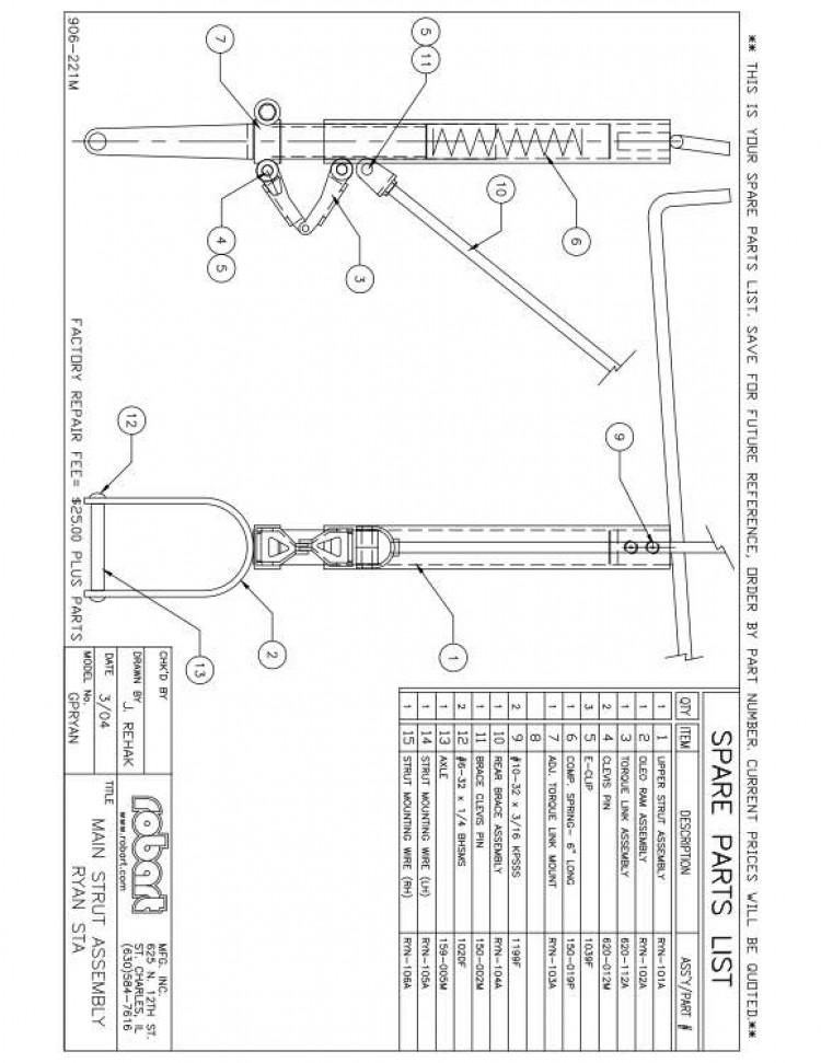 RYNSPM model airplane plan