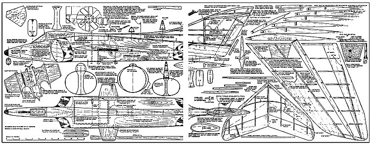 Rapier DF model airplane plan