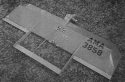 Razorblade model airplane plan