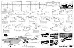 Real Sporty 21in model airplane plan