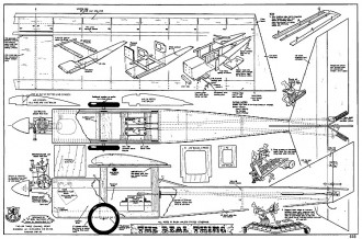 Real Thing RCM-535 model airplane plan