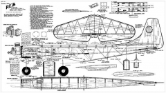 Reb 69in model airplane plan