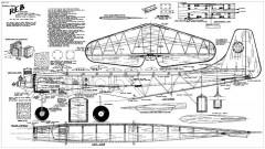 Reb 69in model airplane plan