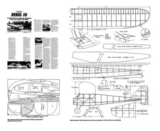 Rebel 3 model airplane plan