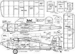 Rebel 48in model airplane plan