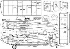 Rebel 48in model airplane plan
