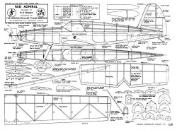 RedAdmiral model airplane plan