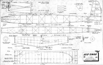 RedSwan model airplane plan