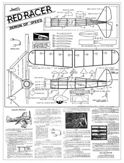 Red Racer Demon of Speed 16in model airplane plan