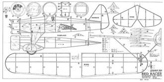 Red Racer Douple model airplane plan
