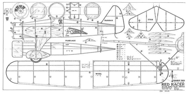 Red Racer Douple model airplane plan