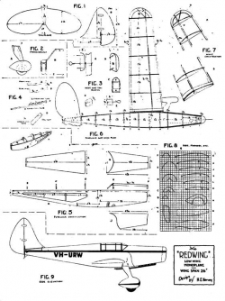 Redwing 26in model airplane plan