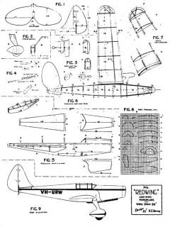Redwing 26in model airplane plan