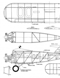 Renard R.17 Monoplane model airplane plan