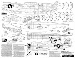 Republic P-47N Thunderbolt model airplane plan