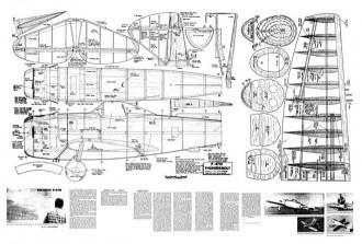 Republic P-47N model airplane plan