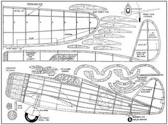 Republic P-47 Thunderbolt Stahl model airplane plan