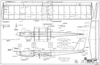 Ridge Rat RCM-747 model airplane plan