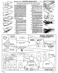 Rigid model airplane plan