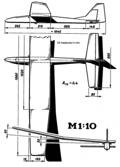Riser 1 model airplane plan