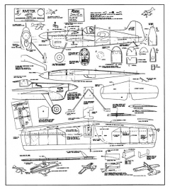 Riveter-JG-01 model airplane plan