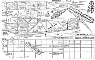 Rocket Peerless model airplane plan