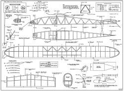 Rocketeer rubber 36in model airplane plan