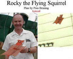 Rocky Squirrel model airplane plan