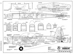 Rodent-RCM-03-69 389 model airplane plan