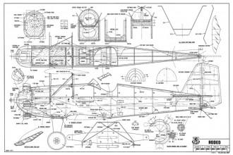 Rodeo-RCM-02-75 587 model airplane plan