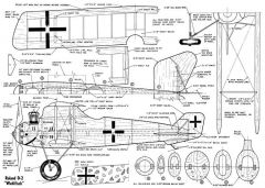 LFG Roland D.II model airplane plan