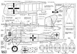 LFG Roland D.II model airplane plan