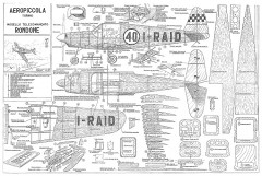Rondone CL model airplane plan