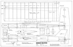 Rookie Trainer model airplane plan