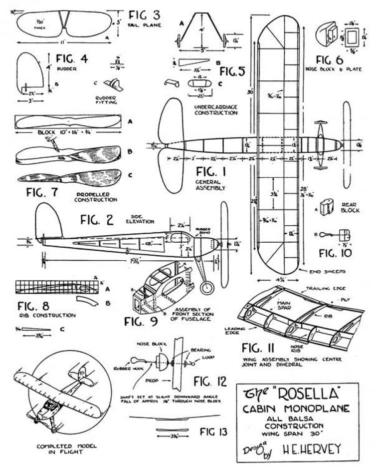 Rosella model airplane plan