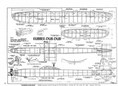 Rubber-dub-dub model airplane plan