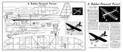 Rubber Powered Pursuit 20in model airplane plan