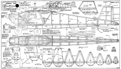 Rudder Bug 72in model airplane plan