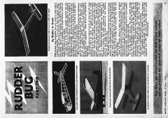 Rudder Bug MAN 1949 model airplane plan