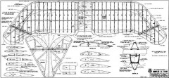 Rumpler 4C Taube 2 Wing model airplane plan