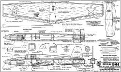 Russian CP-1 RCM-1228 model airplane plan