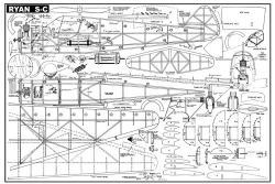 Ryan S-C model airplane plan