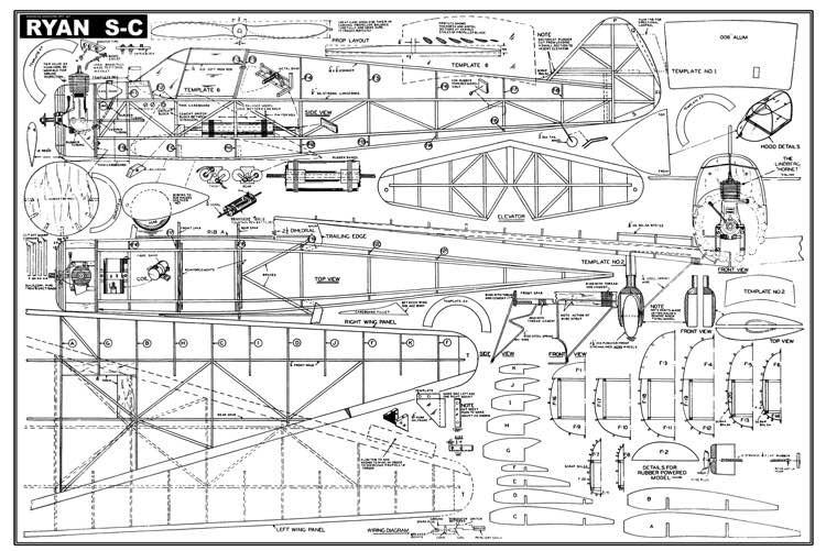 Ryan S-C model airplane plan