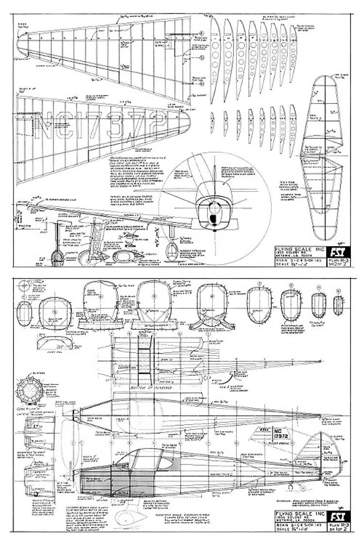 Ryan SC FSI model airplane plan