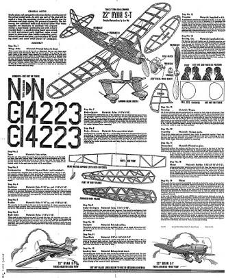 Ryan ST 22in whitman cleaned model airplane plan