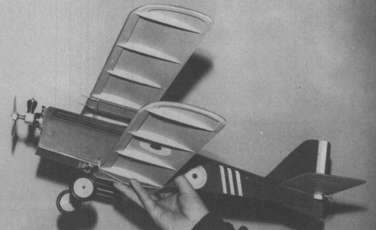 S.E.5A model airplane plan