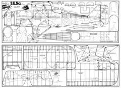 S.E.5a model airplane plan
