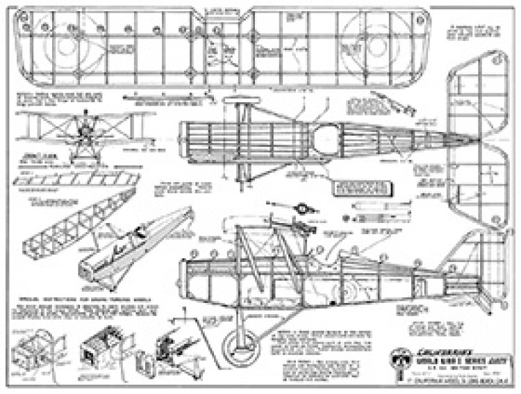S.E 5A British Scout model airplane plan