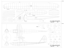 S.V.18 Bleu-Bird model airplane plan